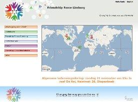 Webdesign: Friendship Force Limburg - Internationale uitwisselingen en kennismakingsprogramma's